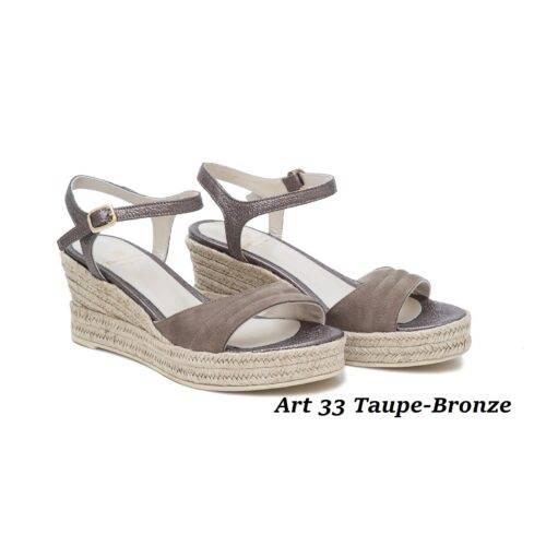 Women Shoes Art 33 Taupe-Bronze