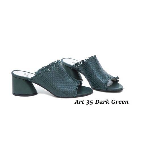 Women Shoes Art 35 Dark Green