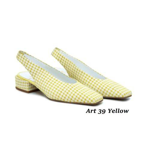 Women Shoes Art 39 Yellow