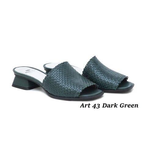 Women Shoes Art 43 Dark Green