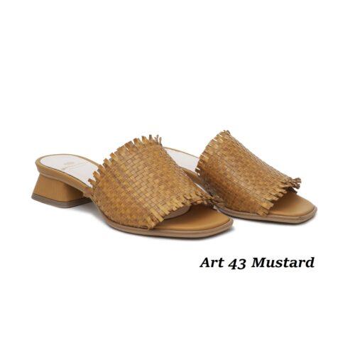 Women Shoes Art 43 Mustard