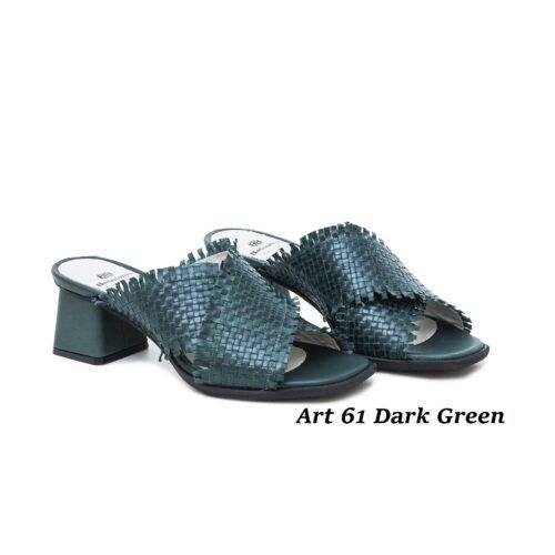 Women Shoes Art 61 Dark Green