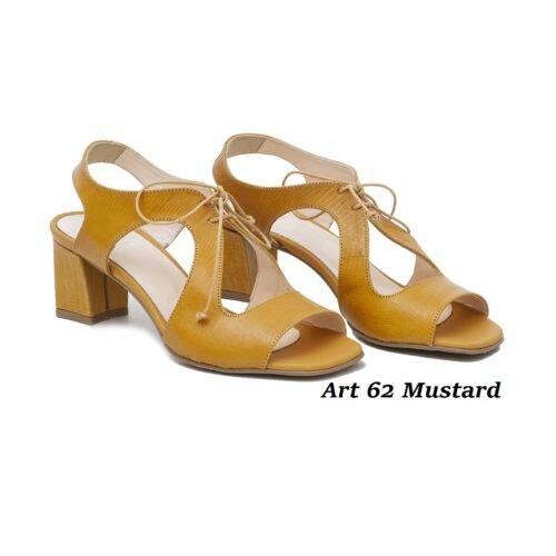 Women Shoes Art 62 Mustard