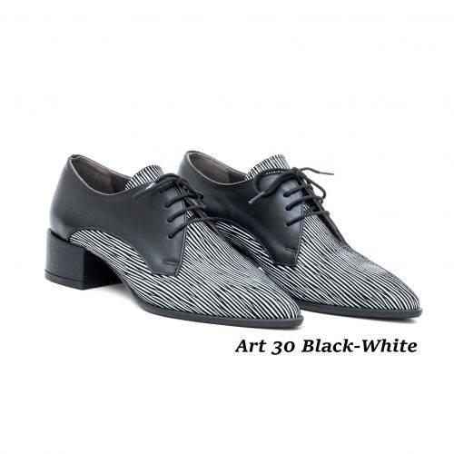 Women Shoes Art 30 Black-White