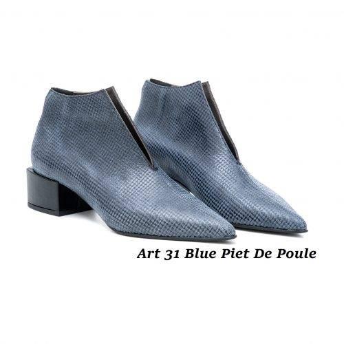 Women Shoes Art 31 Blue Piet De Poule