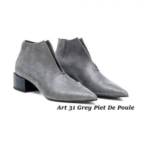 Women Shoes Art 31 Grey Piet De Poule