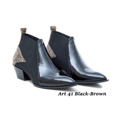 Women Shoes Art 41 Black-Brown