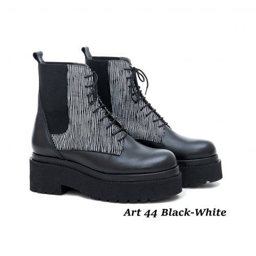 Women Shoes Art 44 Black-White