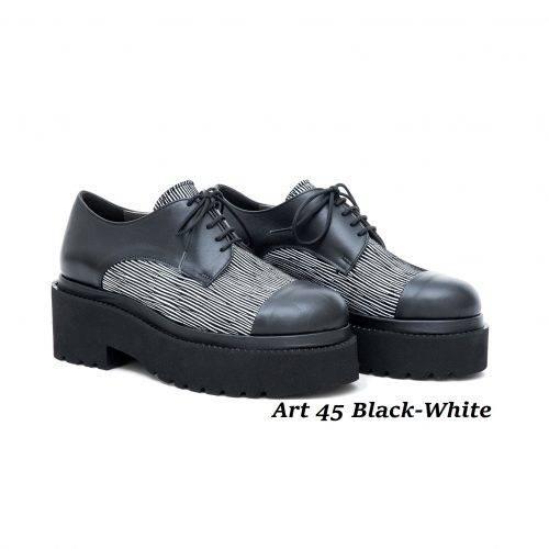 Women Shoes Art 45 Black-White