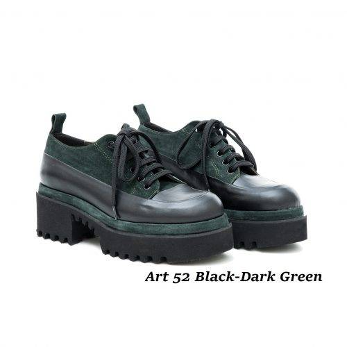 Women Shoes Art 52 Black-Dark Green
