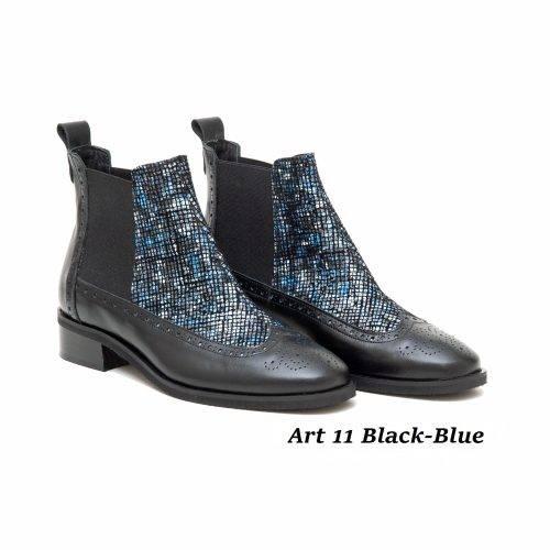 Women Shoes Art 11 Black-Blue