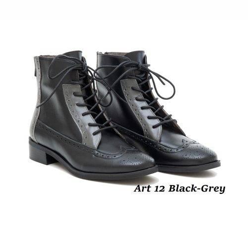 Women Shoes Art 12 Black-Grey