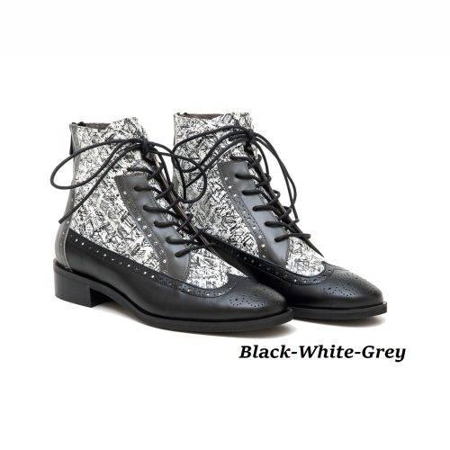 Women Shoes Art 12 Black-White-Grey