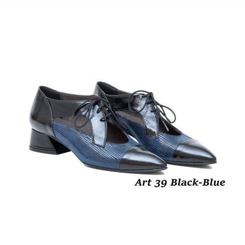 Women Shoes Art 39 Black-Blue
